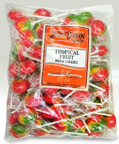 DOB15 DOBSONS WRAPPED TROPICAL FRUIT LOLLY